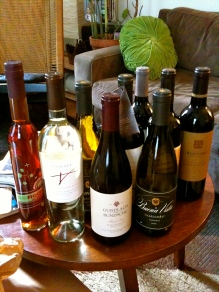 The spoils from our April trip to Sonoma