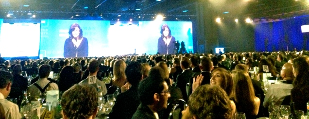Sally Field winning the Ally for Equality award at the Human Rights Campaign National Dinner