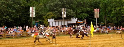 Jousting at the Maryland Renaissance Festival